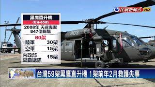 台灣59架黑鷹直升機 1架前年2月救護失事-民視新聞