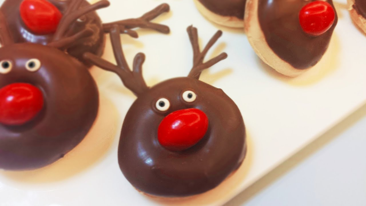 Diy Christmas Rudolph Reindeers Mini Baked Donuts Delicious