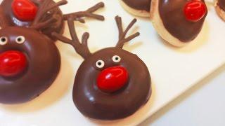 Diy Christmas Reindeers Aka Silly Rudolph Mini Baked Donuts | Bizarre Island
