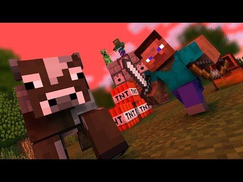 【マイクラアニメ】スティーブは牛肉を食べたい【Minecraft・マインクラフトアニメ】