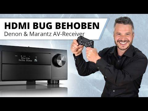 HDMI 2.1 Bug behoben - Gaming mit 4K HDR und 120Hz jetzt mit Denon und Marantz AV-Receiver möglich.