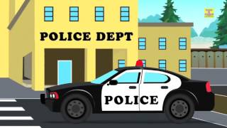 Police Car Chase | Cartoon Car For Baby