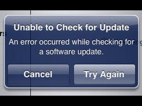 Unable to Check for Update Error while upgrading iOS7 fixed