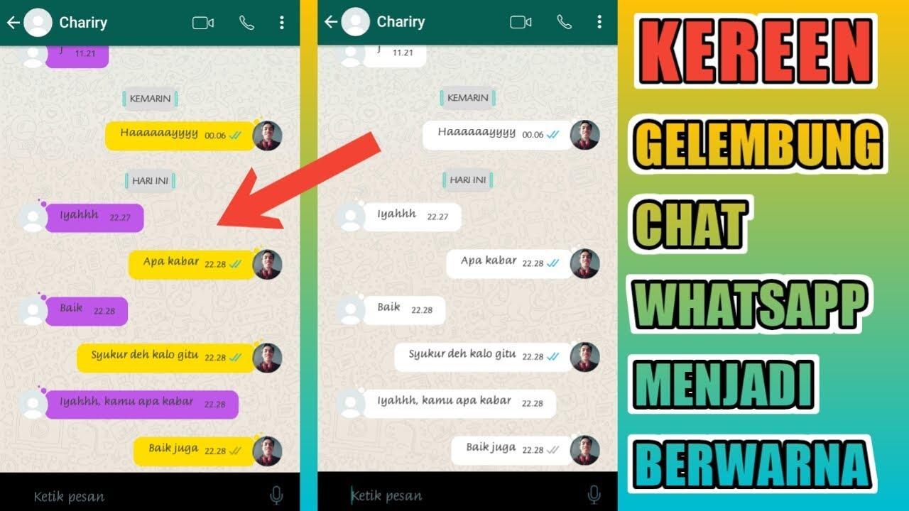 Cara Merubah Gelembung Chat Whatsapp Menjadi Berwarna - YouTube
