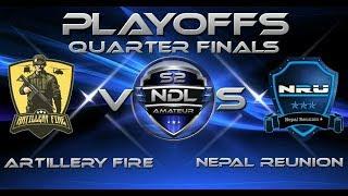 Artillery Fire vs. Nepal Reunion   NDL Amateur Playoffs: Quarterfinals   Clash of Clans