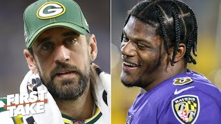 Aaron Rodgers is under more pressure than Lamar Jackson in the playoffs - Stephen A. | First Take