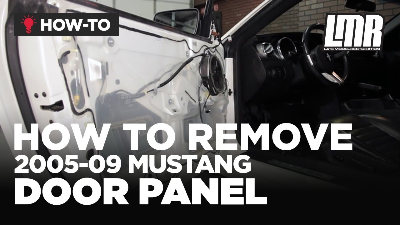 how to remove mustang door panel 2005 2009 all  [ 1280 x 720 Pixel ]