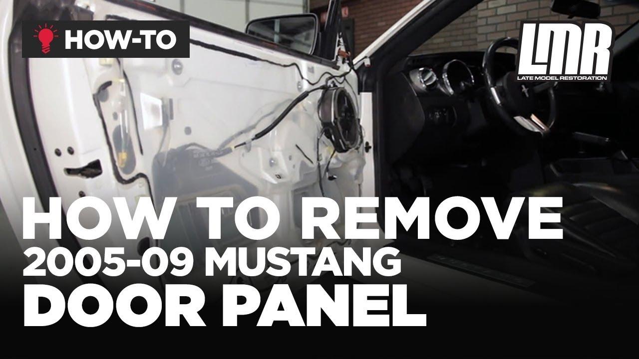 mitsubishi 380 stereo wiring diagram tekonsha 7894 how to remove mustang door panel 2005 2009 all youtube