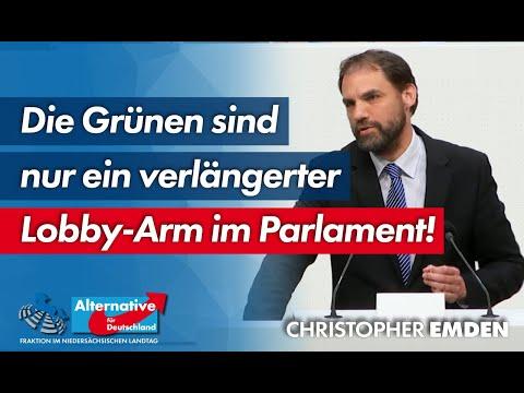 Die Grünen sind nur ein verlängerter Lobby-Arm im Parlament! Christopher Emden, MdL (AfD)