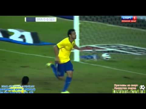 Fred Amazing Goal Brazil vs Serbia 1 0 Friendly 06 06 2014 HD
