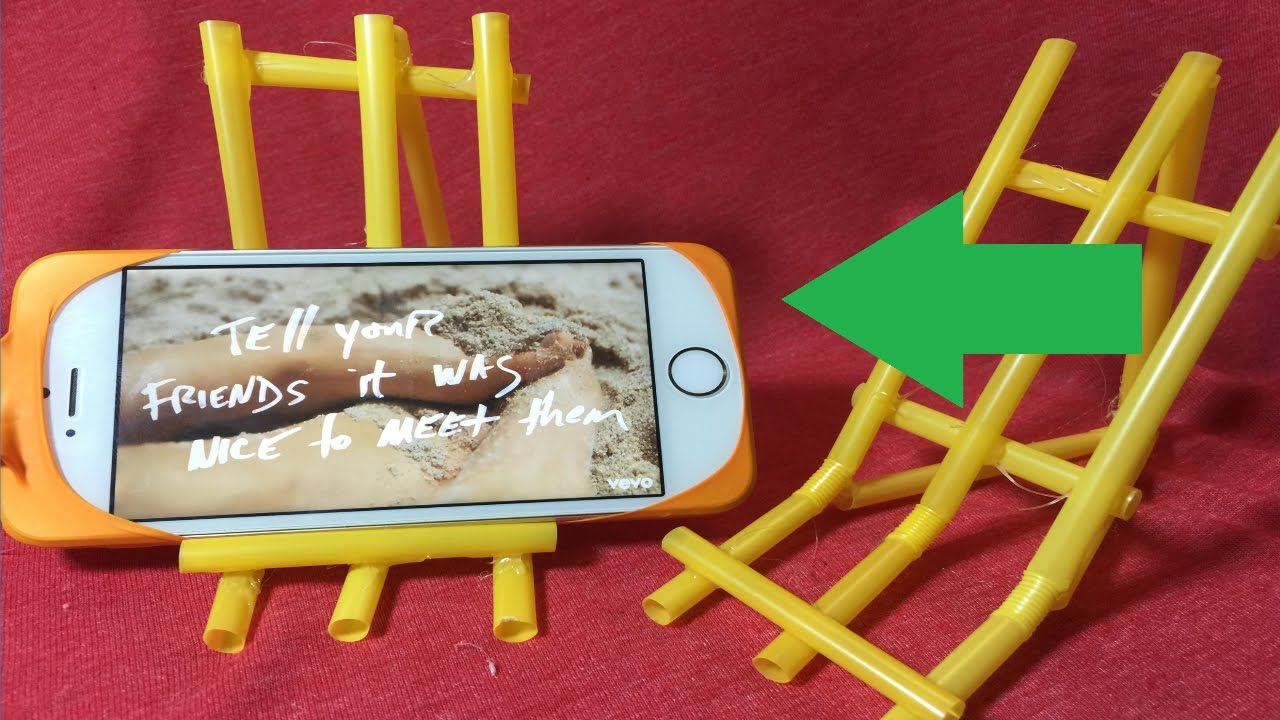 how to create playlist on iphone diy how to make a stand for iphone smartphone using straw 1082