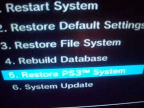 Fix Corrupted Hard Drive And Most Ps3 Problems Easy Youtube