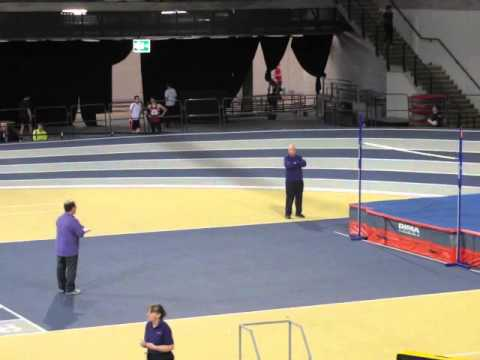 Allan Smith claims Scottish native high jump record of 2.22m. Emirates Arena, 12 Jan 2013
