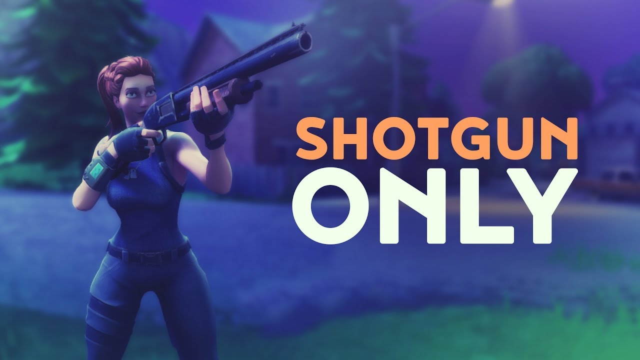 shotgun only fortnite battle royale youtube