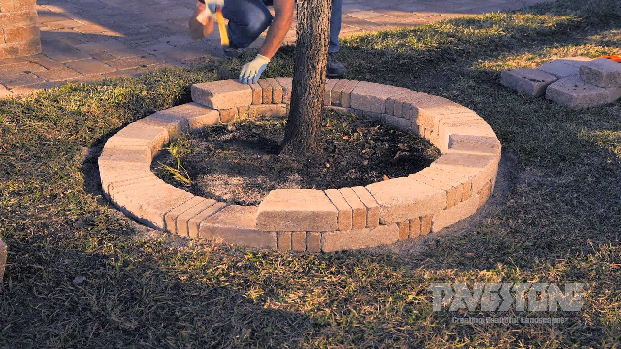 Pavestone Rumblestone Tree Ring Youtube