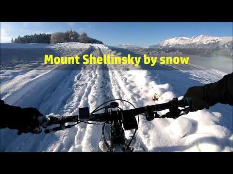 Mount Shellinsky by snow