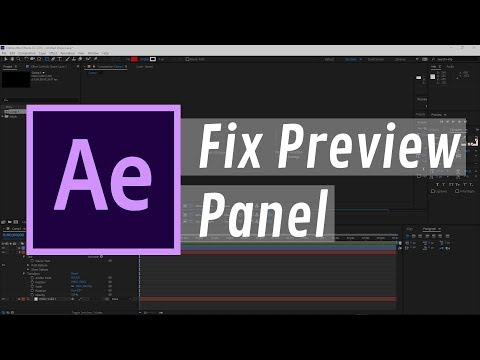How to Fix Composition Not Showing Up in the Preview Panel on After Effects