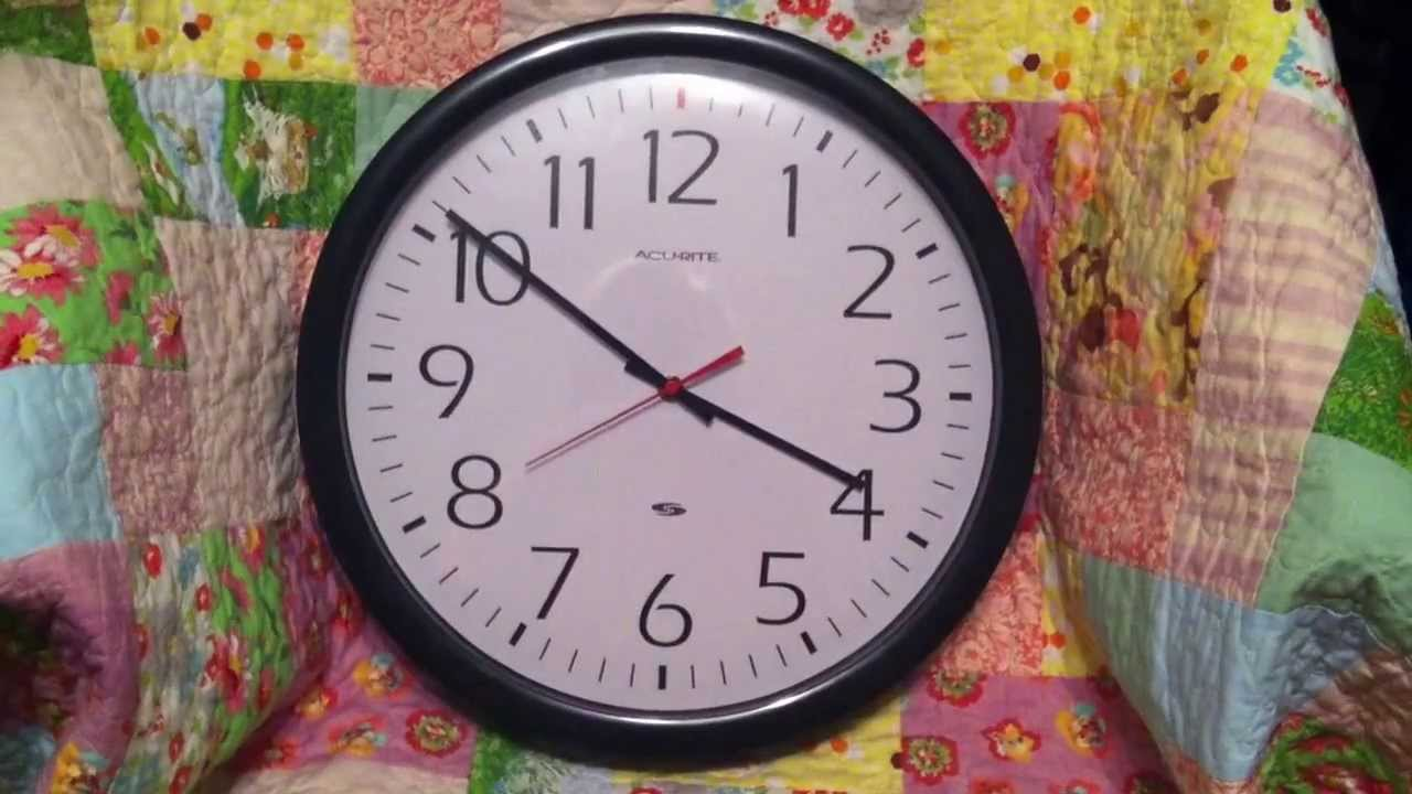 Analog Clock Changing From Standard Time To Daylight