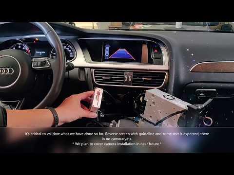 Audi A4 A5 Q5 Rear View Camera DIY Installation Part 1