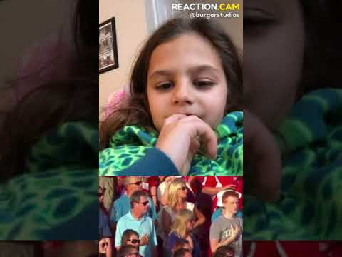 11-Year Old Harper Gruzins Butchers The National Anthem – REACTION.CAM