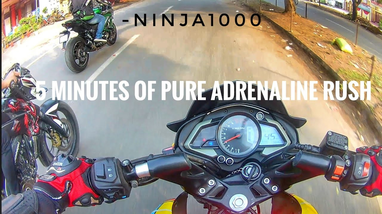 5 minutes of PURE ADRENALINE RUSH! ft. NINJA 1000 SX | Bareilly Vlogger