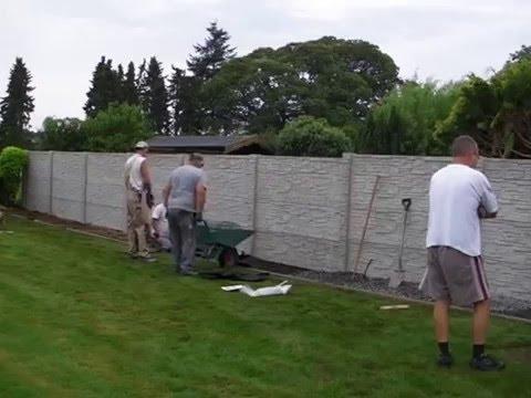 Betonzäune betonzaun montage 2 betmar betonzaun
