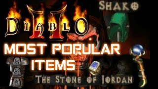 Most Popular Items - Diablo 2