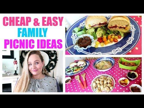 PICNIC FOOD IDEAS / Cheap , Easy Picnic Recipes , Budget Family Meal Ideas, DIY Summer Food