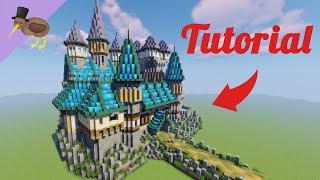 minecraft fantasy castle tutorial medieval