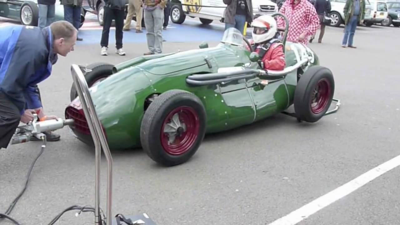 Race Car Trophy >> Grant Clearwater starting up his CONNAUGHT SINGLE SEAT race car at Silverstone VSCC meeting 25 ...