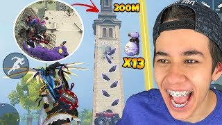 SUBI NA TORRE DA CLOCK TOWER COM 13 GRANADAS GEL DENTRO DO GÁS NO FREE FIRE!!