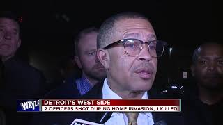 2 Detroit police officers shot during home invasion