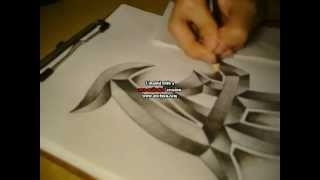 how to draw a LA logo