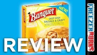 Banquet Deep Dish Sausage & Gravy Pie Video Review: Freezerburns (ep649)