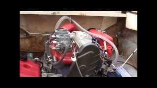 Судовой двигатель ВАЗ 2108 на водометном катере