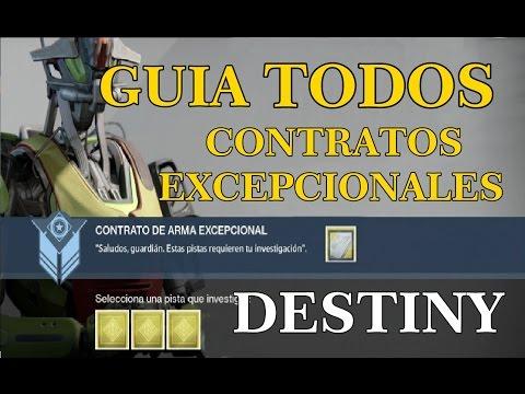 Destiny GUIA TODOS LOS CONTRATO DE ARMA EXCEPCIONAL | PASO A PASO | de YouTube · Duración:  5 minutos 18 segundos