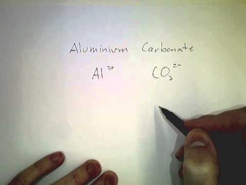 03 Writing ionic formula Aluminium Carbonate - YouTube
