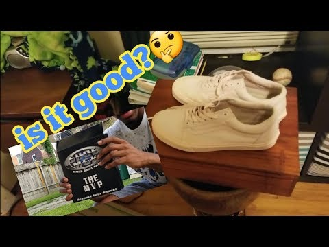 cleaning my vans with SHOE MGK ( the mvp ) plus review!!!!