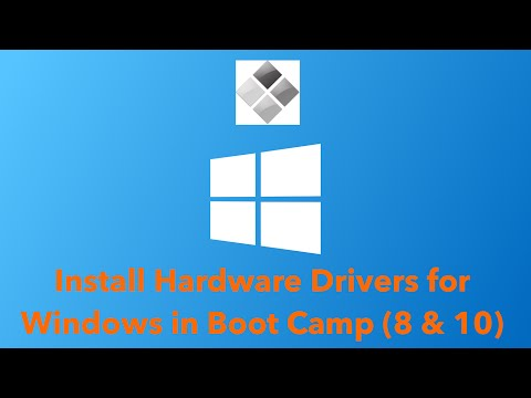 Install Hardware Drivers for Windows in Boot Camp (8 & 10)