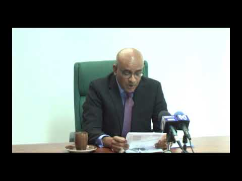 Press Conference by Opposition Leader Dr Bharrat Jagdeo February 15th 2018
