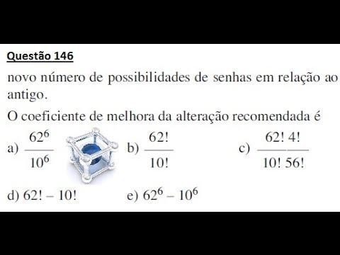 ENEM 2013/2014 QUESTÃO COMENTADA E RESOLVIDA 146  (PROVA CINZA 2° DIA)