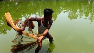 Unbelievable cast net fishing।Catching Lot of Fish By Cast Net। Net fishing videos( part - 52)