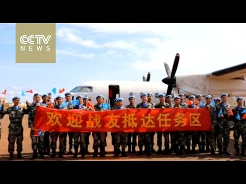 Chinese troops arrive in South Sudan for UN peacekeeping mission