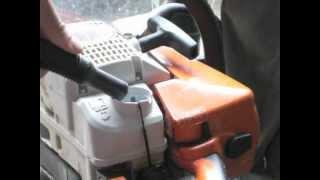 Préparer le carburant d'une tronçonneuse