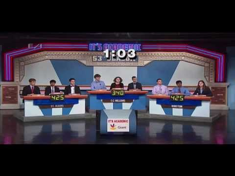 Copy of It's Academic NBC4 aired on March 1, 2014
