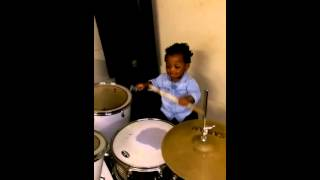 Elijah on d drums at 1+