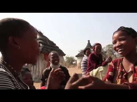 San Tribe Girls Singing in Namibia (Africa)