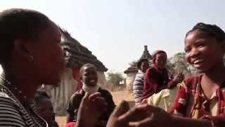 San Tribe Girls Singing in Namibia (Africa)