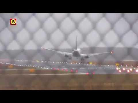 Stormlandingen op Eindhoven Airport