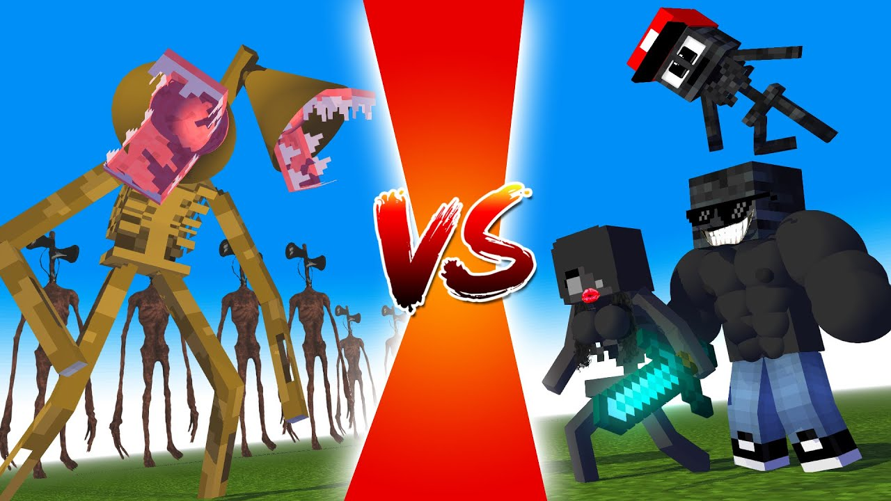 SIRENHEAD vs WITHER SKELETON FAMILY VS FAMILY